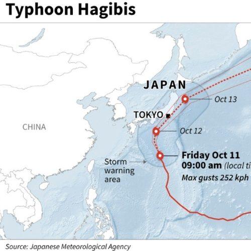 "Japonija: taifūnas ""Hagibis"" užklupo mus Tochigi prefektūroje"